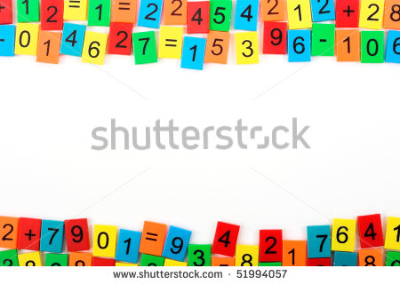 Math Borders And Frames Mathematical Frame With Color