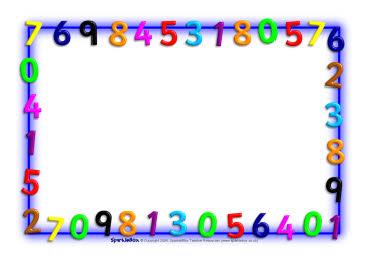 Maths Themed A4 Page Borders Landscape Sb1222 Sparklebox