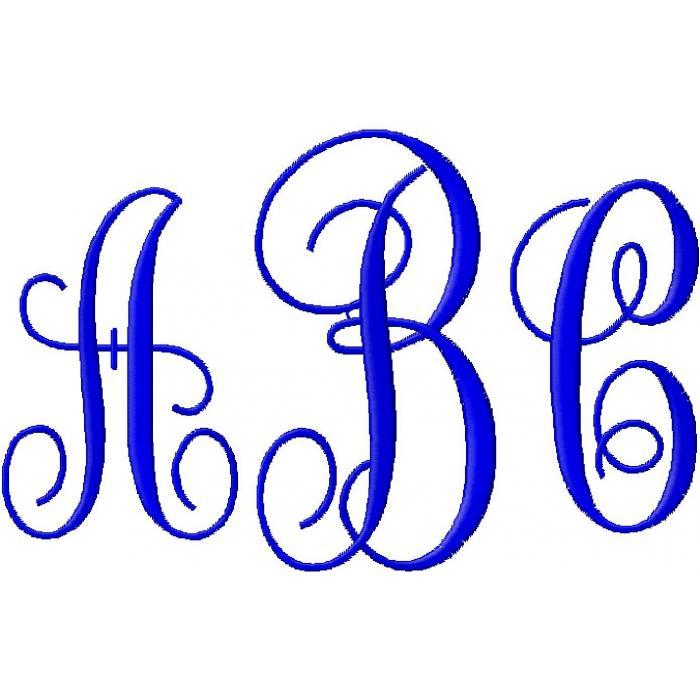 Monogram Fonts Alphabet Clipart - Clipart Kid
