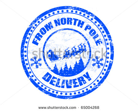 North Pole Delivery Written Inside The Stamp   More Available   Stock