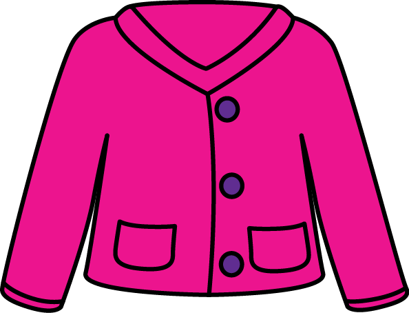 Pink Cardigan Sweater Clip Art   Pink Button Up Cardigan Sweater With