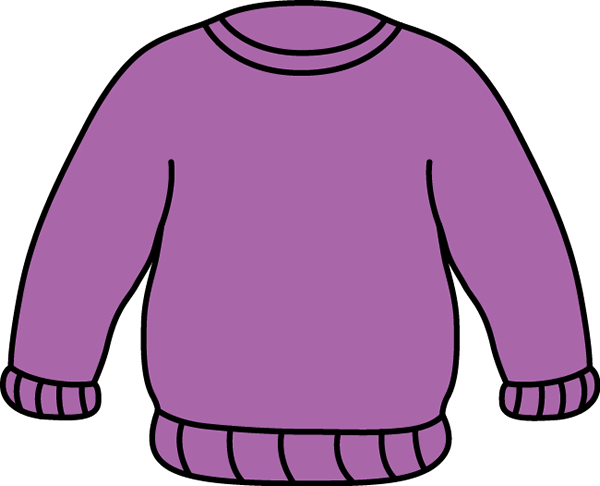 Purple Sweater Clip Art   Warm Purple Sweater With Long Sleeves