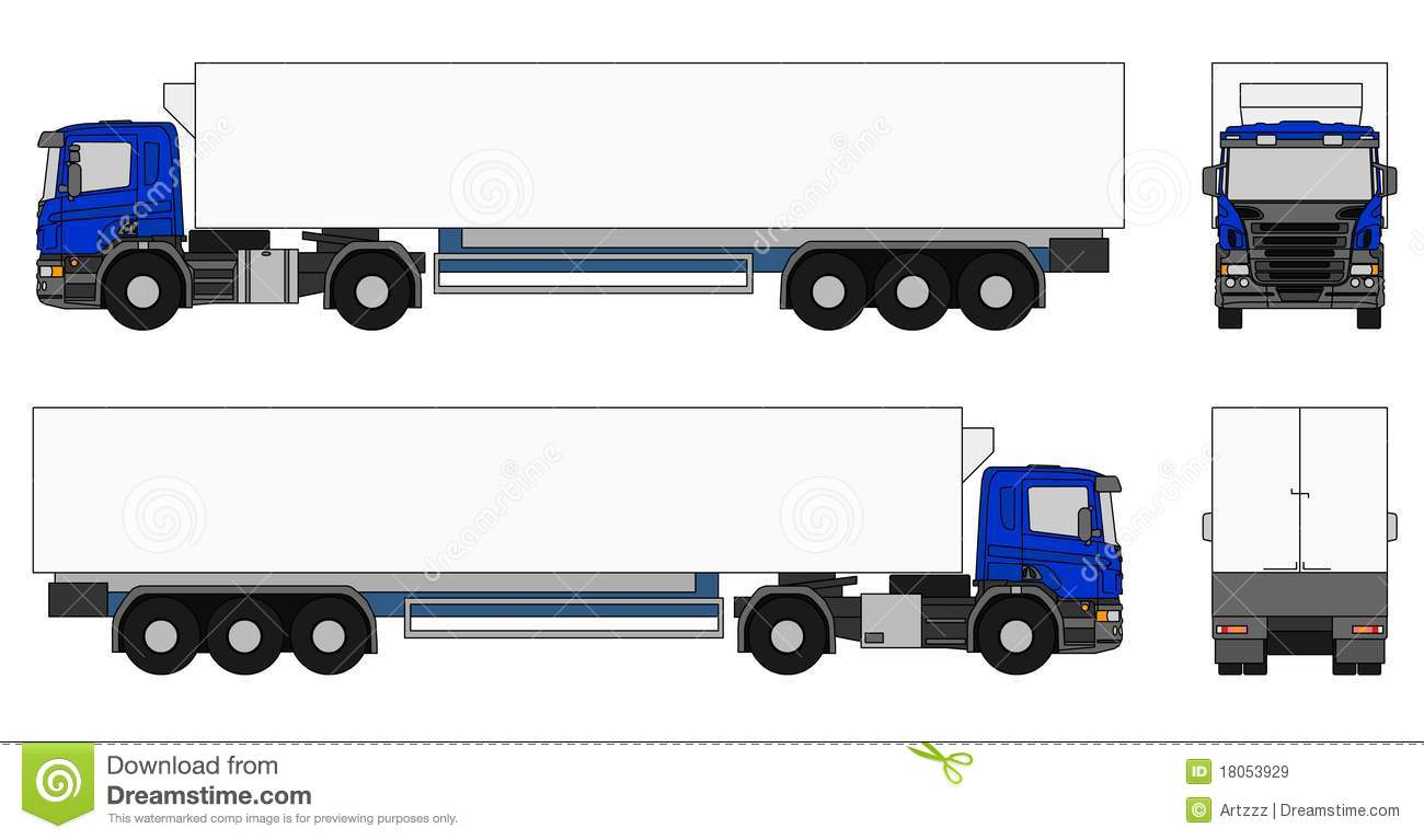 Royalty Free Stock Images  Semi Trailer Truck
