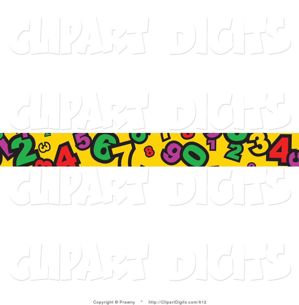 Vector Clip Art Of A Banner Border Of Numbers On Yellow By Prawny