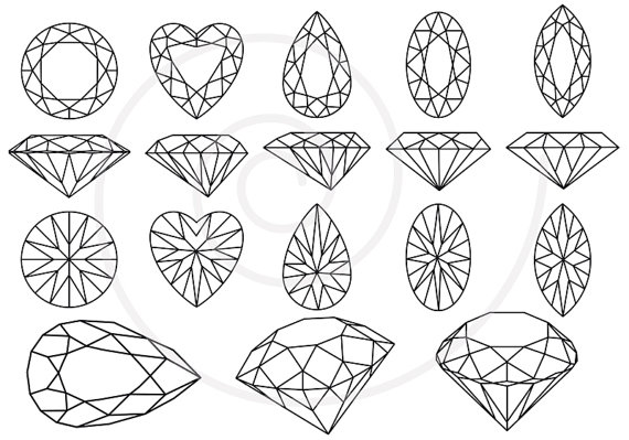 And Gem Stones Jewels Jewelry Brilliant Digital Clip Art Clipart
