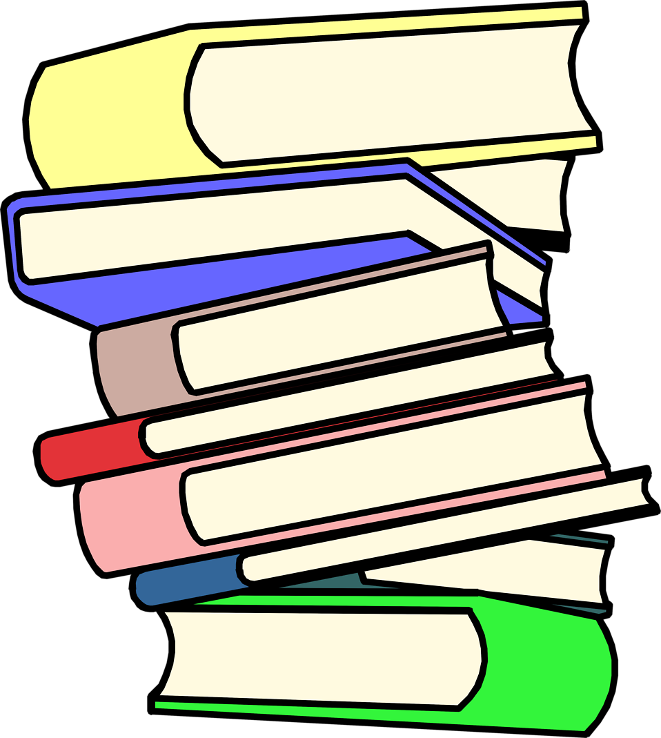Books   Free Stock Photo   Illustration Of A Stack Of Books     8271