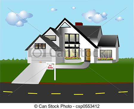 Chalet Style House On A Street With    Csp0553412   Search Clipart