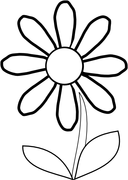 Daisy Outline Clipart - Clipart Kid