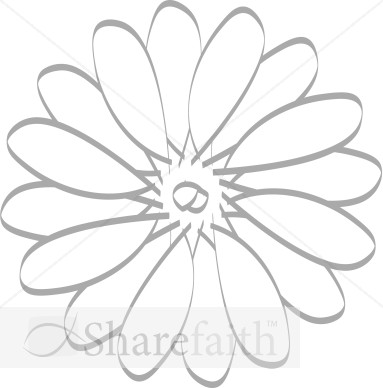 Daisy Pattern   Church Flower Clipart