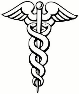 Free Clipart Picture Of A Caduceus The Universal Symbol For Surgery Or