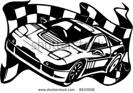 Nascar Race Car Black ...