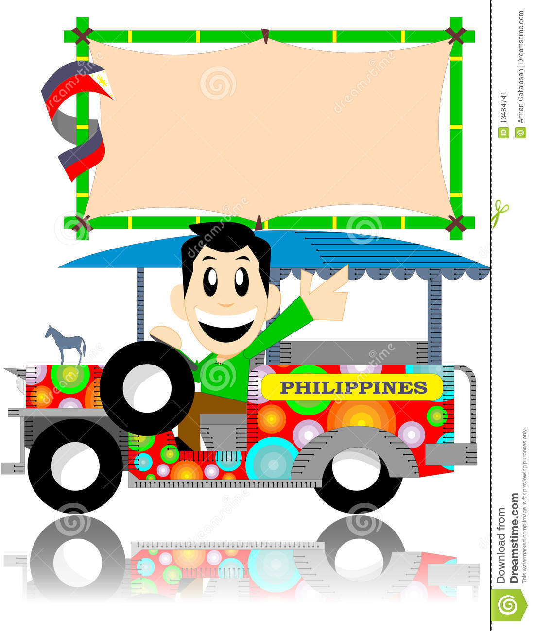 More Similar Stock Images Of   Filipino Jeep With Sign Board