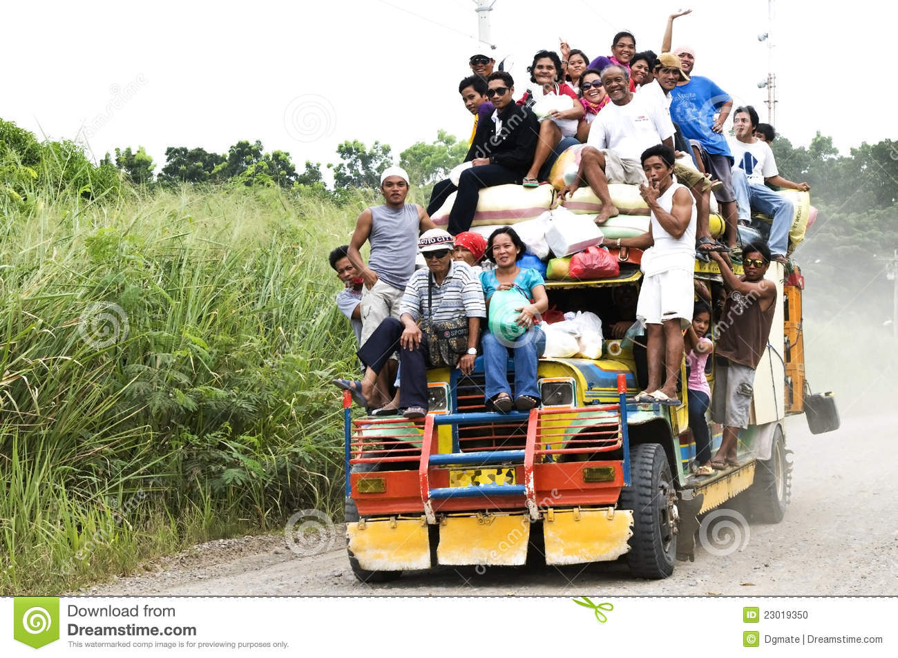 Picture Of People Enjoying The Jeepney Ride In The Philippines