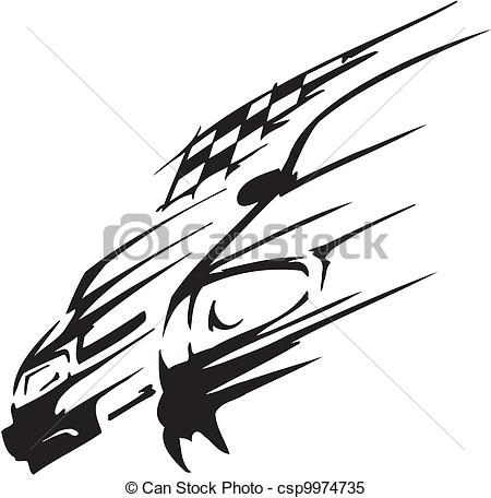 Race Car Clipart Black And White   Clipart Panda   Free Clipart Images