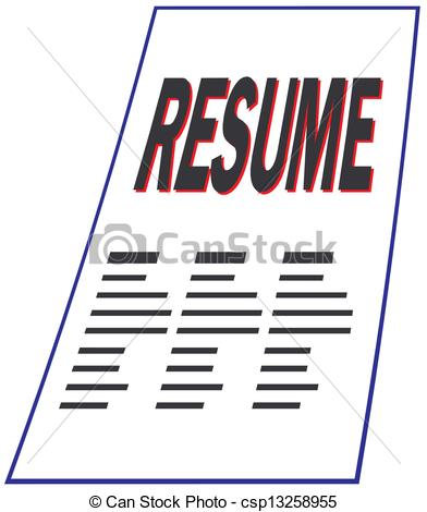 Resume Clip Art Clipart Vector Of Resume