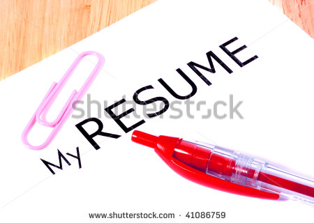 Sheet Of A White Paper With Inscription My Resume The Red Pen And A