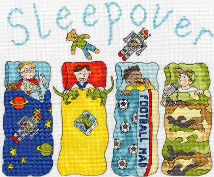 Sleepover  Boys From Bothy Threads       Casa Cenina