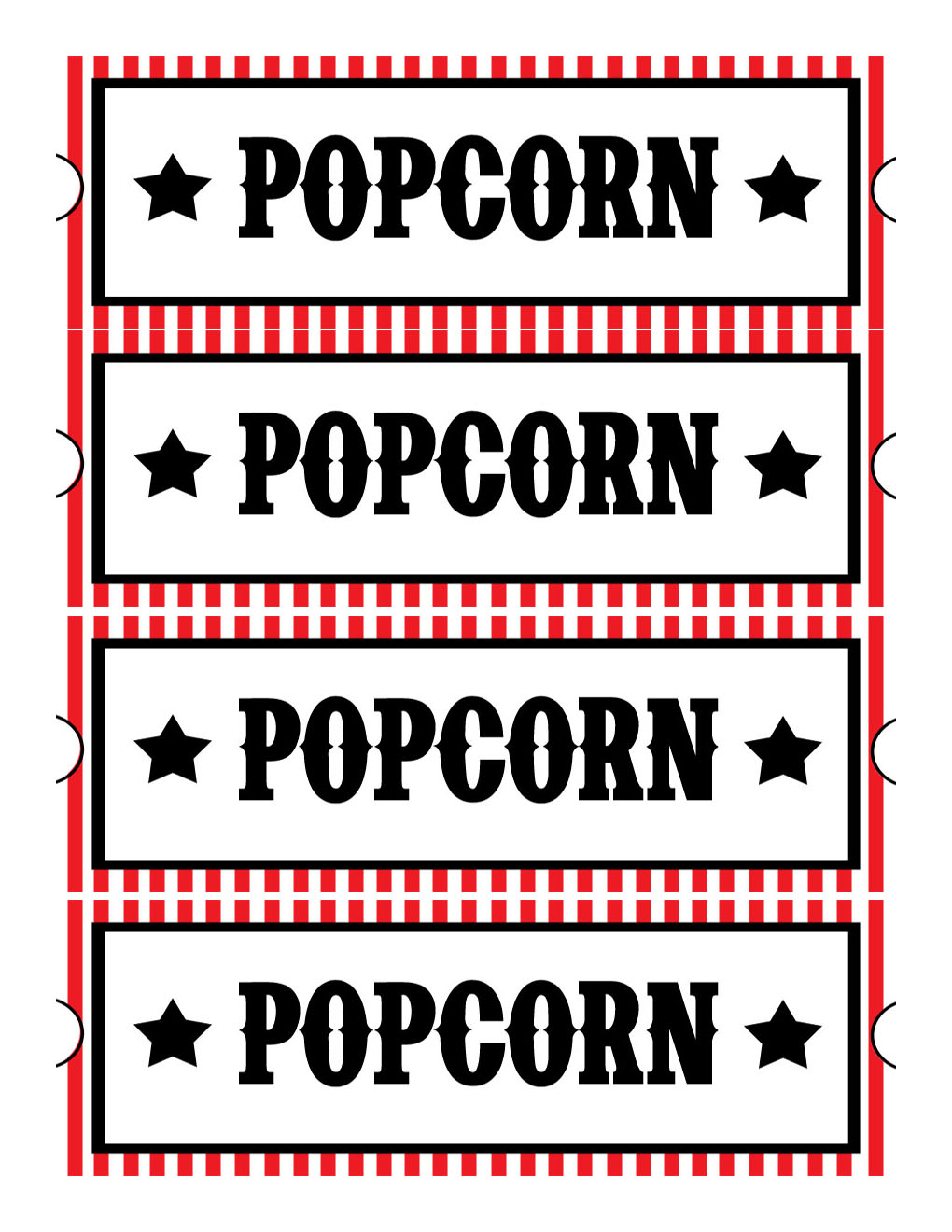 Printable Movie Ticket Clipart - Clipart Kid