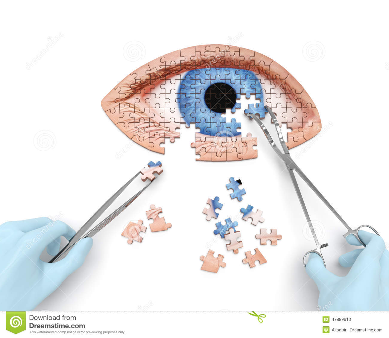 With Surgical Instruments  Tools  Performs Eye  Ocular  Surgery
