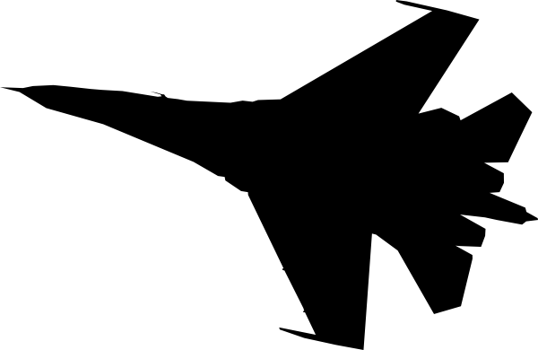 Airplane Fighter Silhouette Clip Art At Clker Com   Vector Clip Art