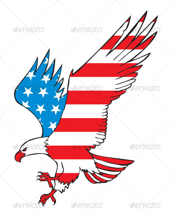 clip art american flag eagle - photo #38