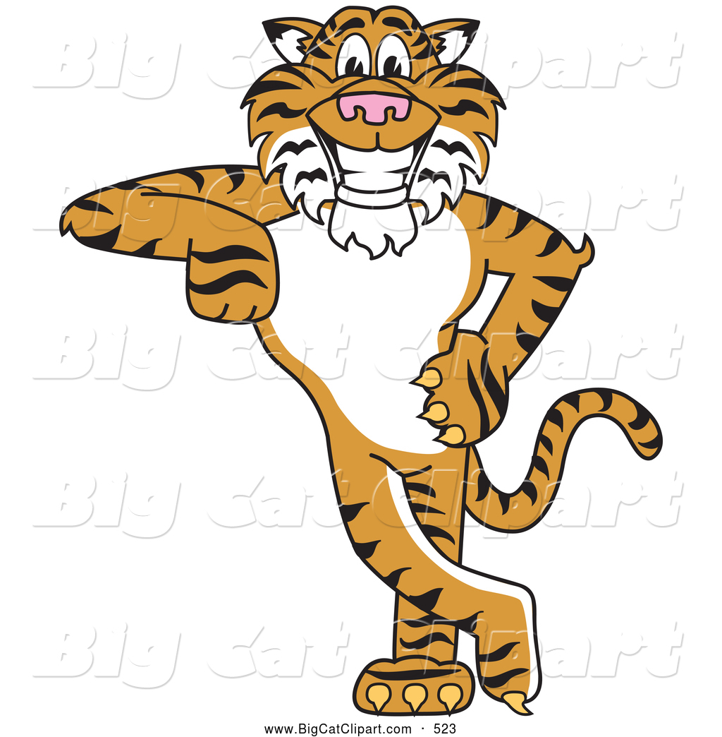 Big Cat Cartoon Vector Clipart Of An Outline Design Of A Panther