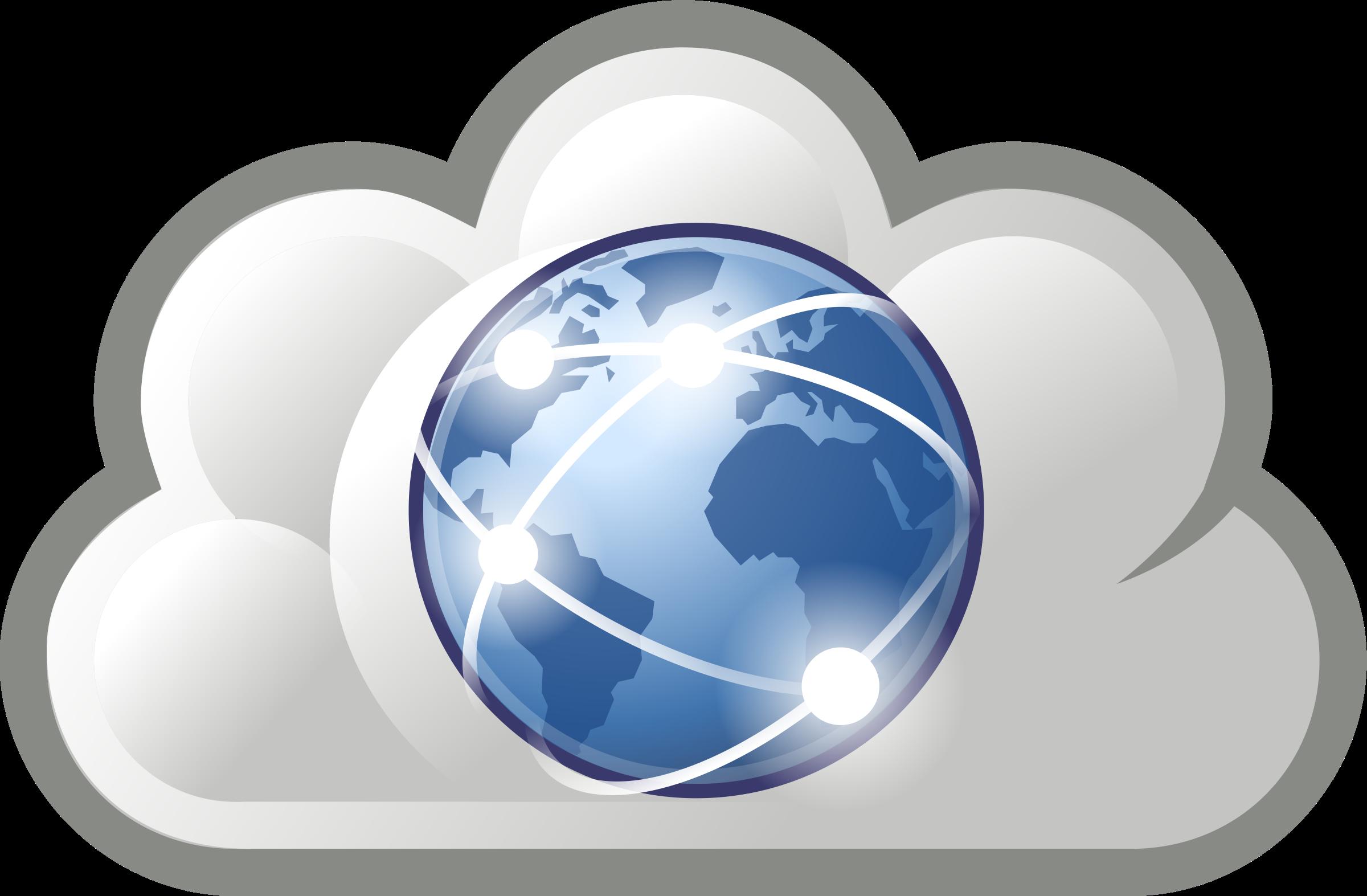 Internet Cloud Symbol Clipart - Clipart Kid