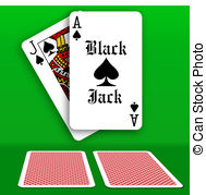 Casino Black Jack Table Playing Cards   Black Jack Ace