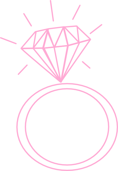 Diamond Ring Pink Clip Art At Clker Com   Vector Clip Art Online
