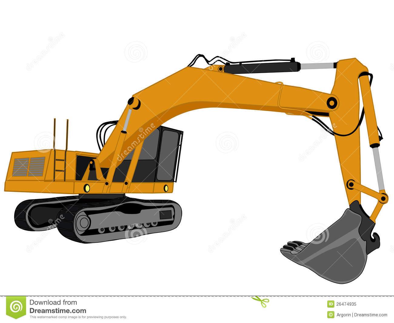 Image Gallery trackhoe vector