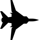Fighter Jet Silhouette Clip Art