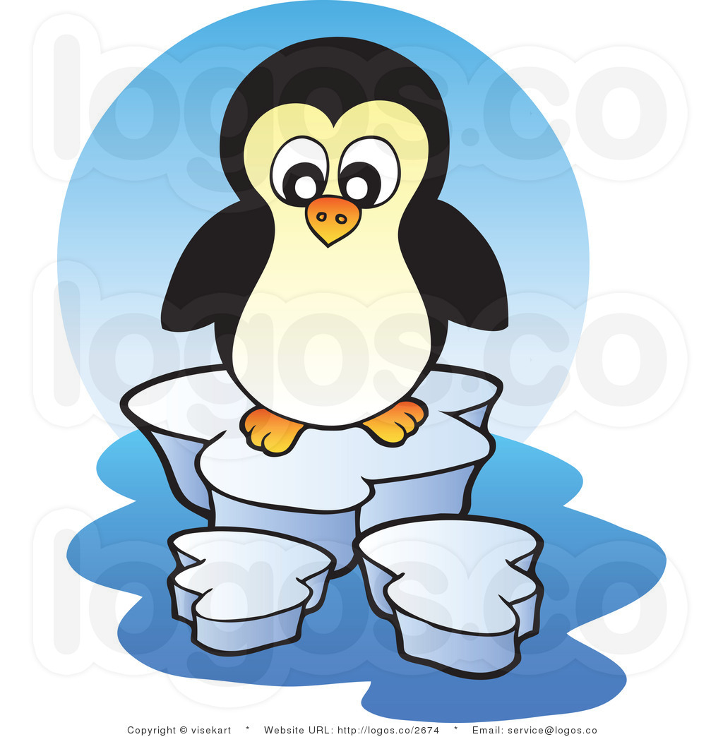 Glacier Clipart Royalty Free Cartoon Penguin On Glacier Logo By
