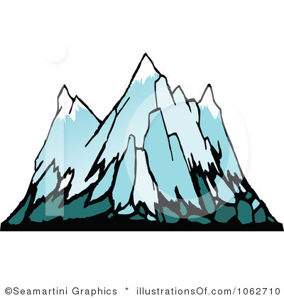 Glacier Clipart Royalty Free Mountains Clipart Illustration 1062710
