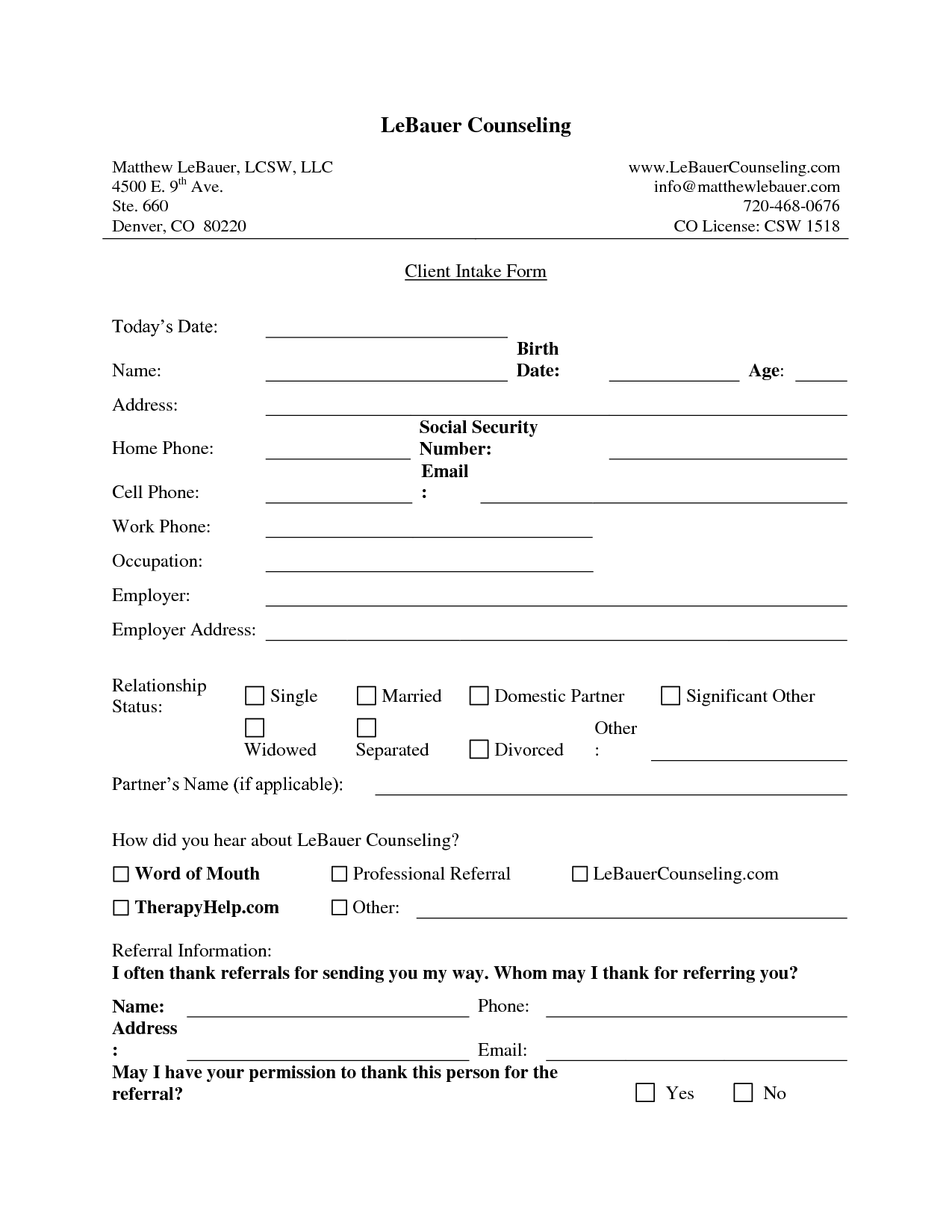 New client intake form template fogiid clipart kid for Client information form template free download