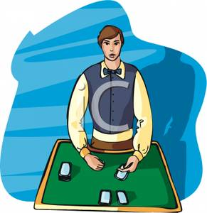 Twenty One Or Blackjack In A Casino   Royalty Free Clipart Picture