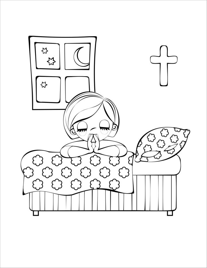 children praying in church coloring pages   Daily Reading Bible Clip Art – Cliparts