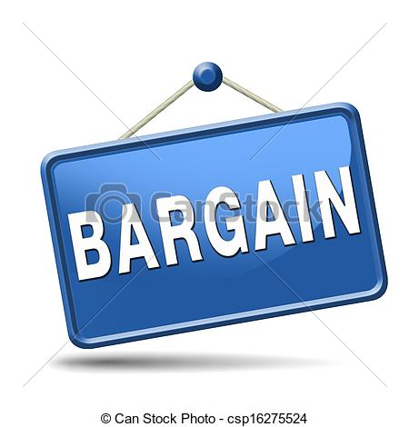 Bargaining Clipart Bargain Blue Placard Clip Art