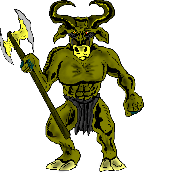 Clipartlord Com Exclusive In Greek Mythology The Minotaur Was A
