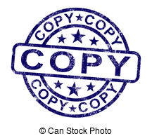 Copy Stamp Shows Duplicate Replicate Or Reproduce   Copy