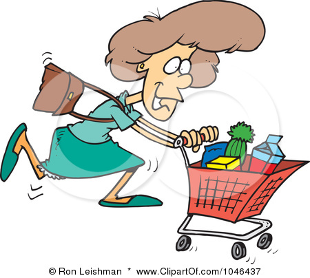 Grocery Shopper Clipart  1