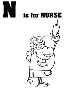Is For Nurse   Royalty Free Clipart Picture