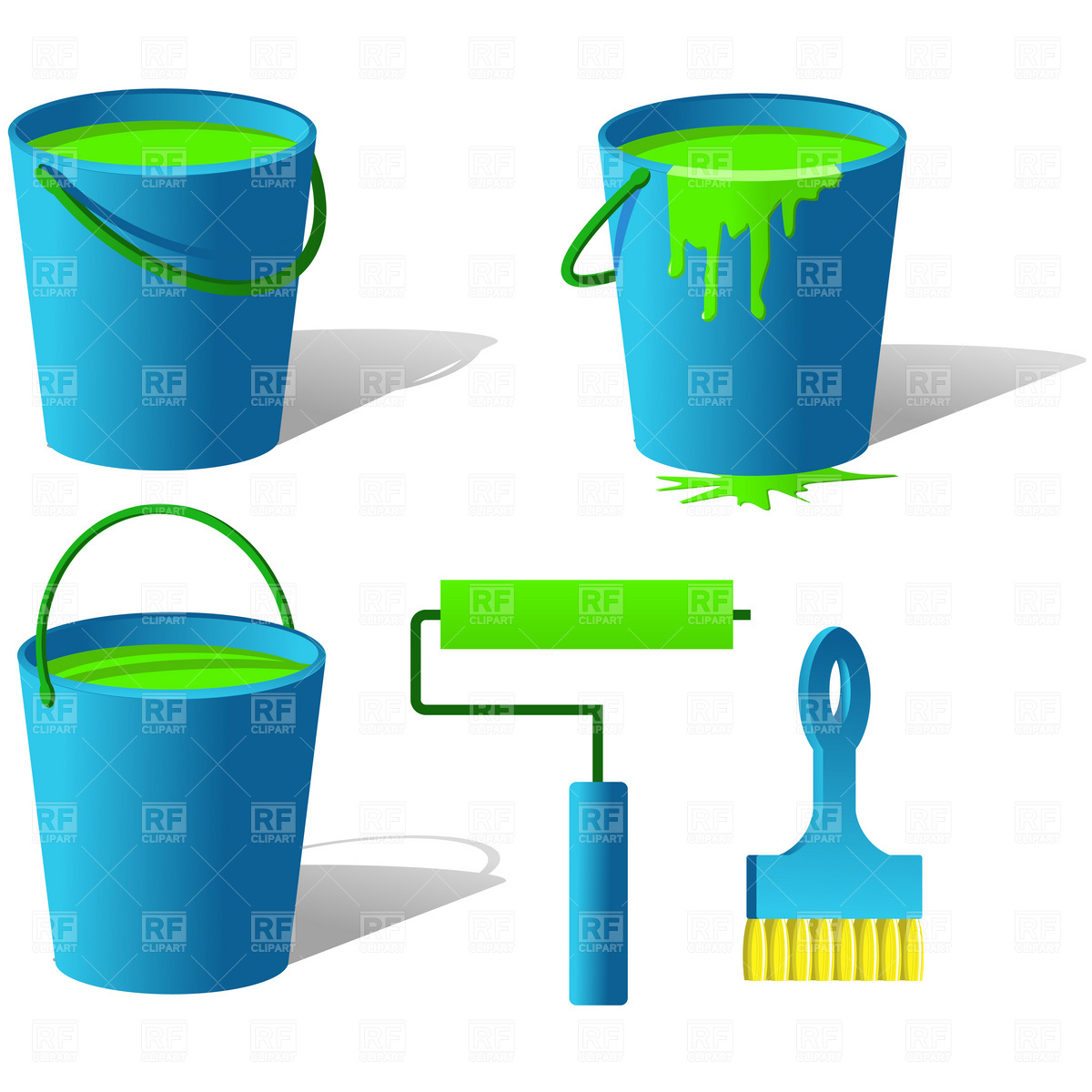 Paint Bucket Clip Art Spilled Paint Bucket Clip Art Bucket With Paint