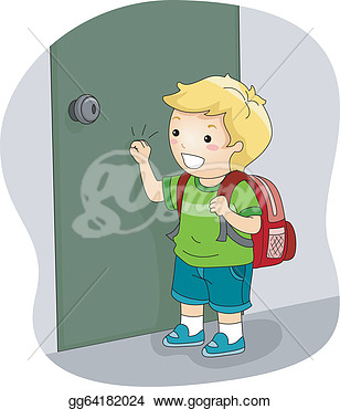 Please Knock Clipart Boy Knocking On A Door