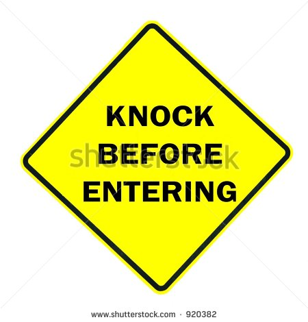 Please Knock Clipart Knock Before Entering Sign