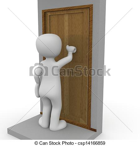 Please Knock Clipart Knocking On The Door A 3d