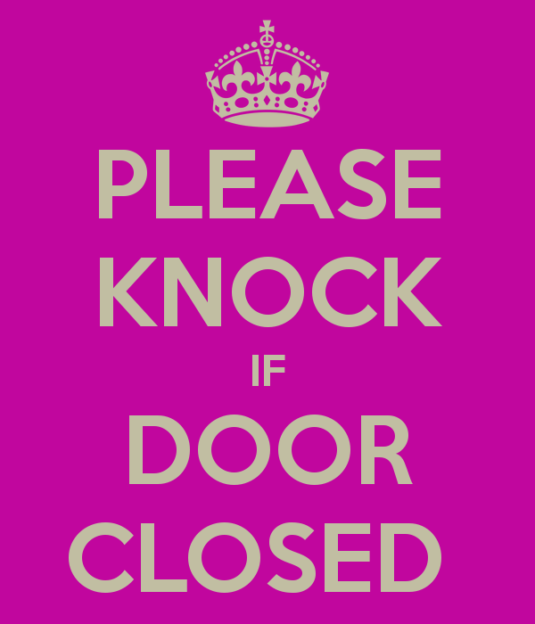 Please Knock Door Sign Printable Clipart