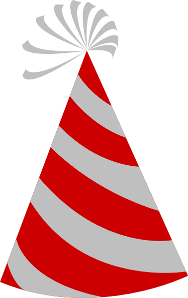 Red And Grey Party Hat Clip Art At Clker Com   Vector Clip Art Online