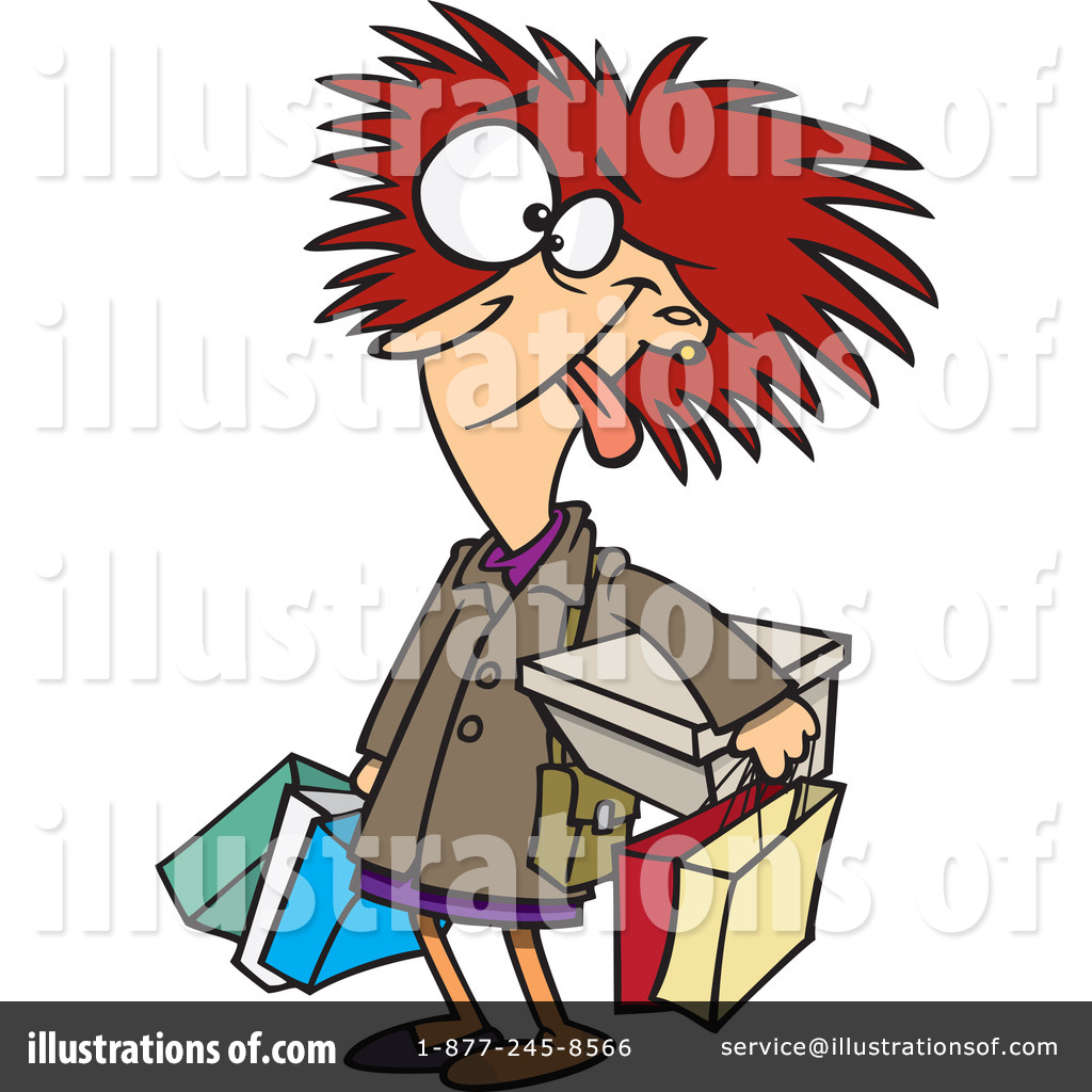 Shopper Clipart  1086515   Illustration By Ron Leishman