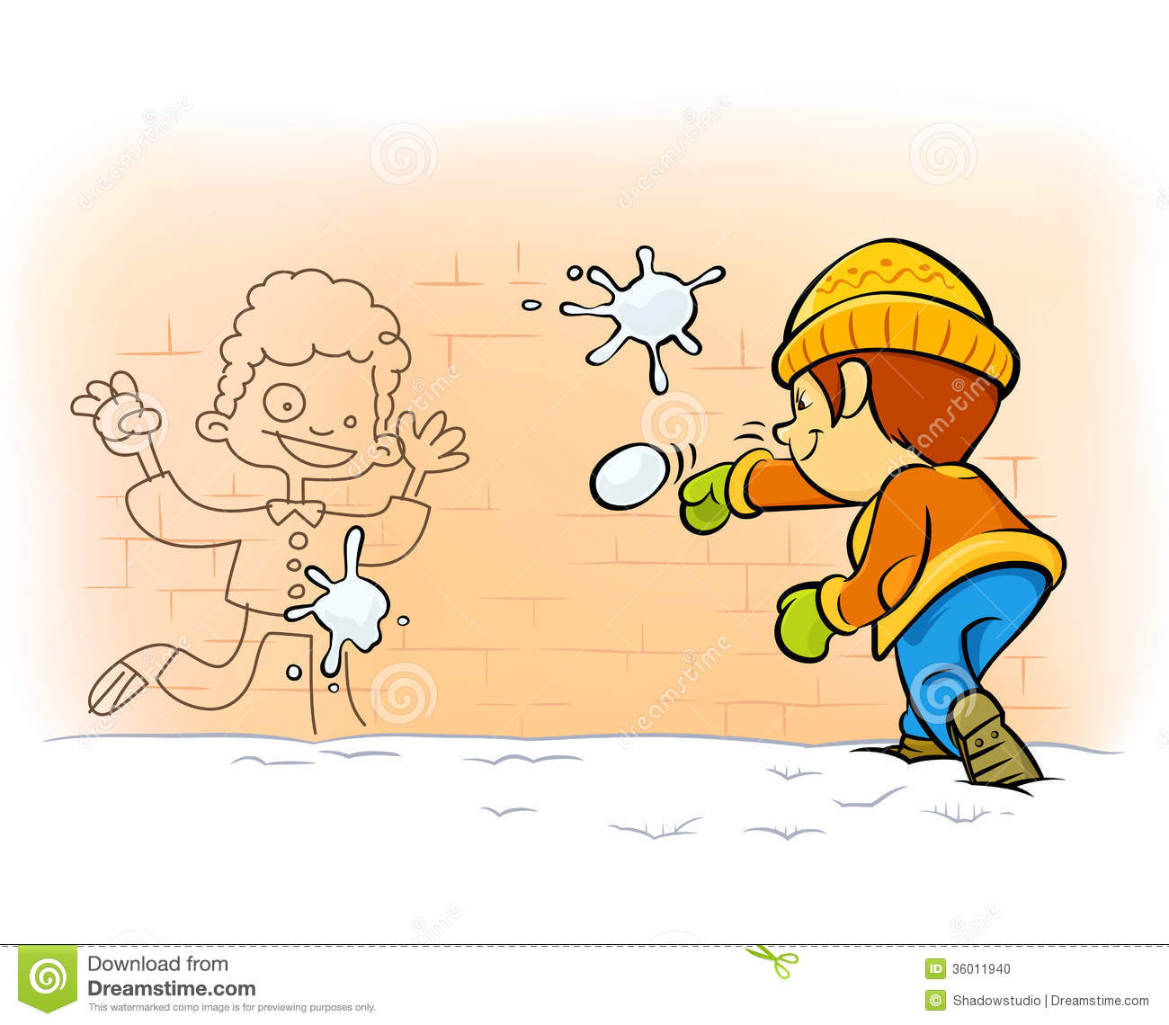 Snowball Fight Clipart Snowball Fight