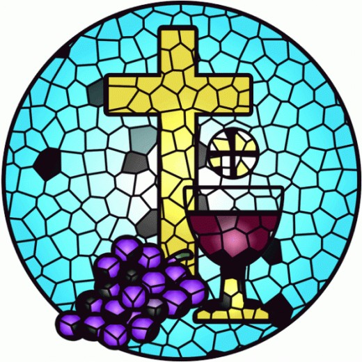Stained Glass Holy Communion Clip Art   Right Click Image   Save As
